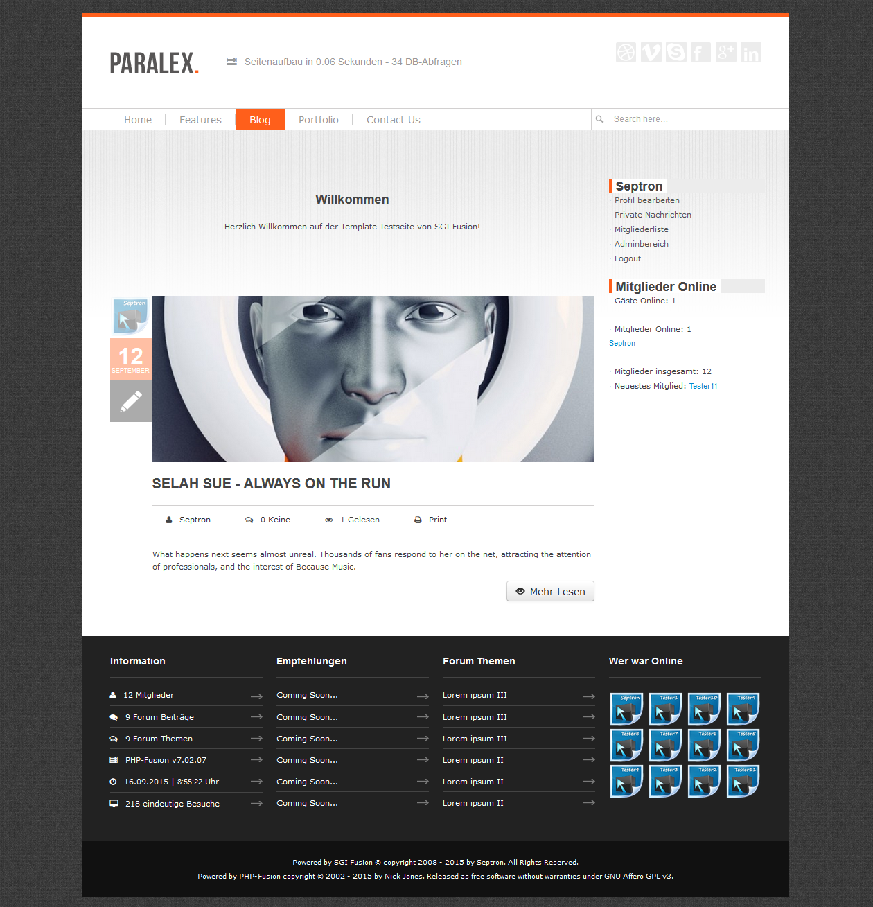 Screenshot Paralex Template (v7.02.xx)