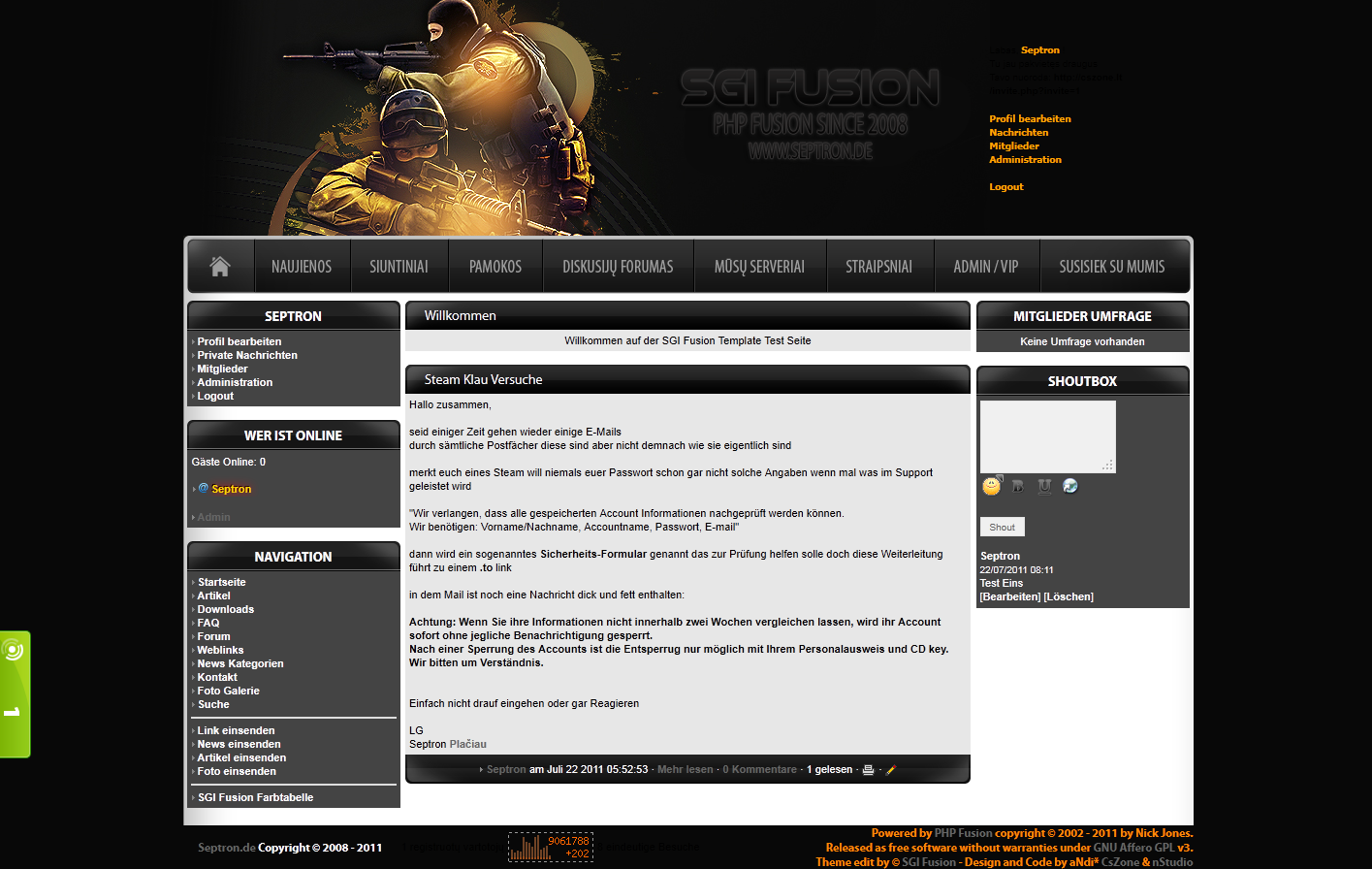 Screenshot Counter Strike Zone Template