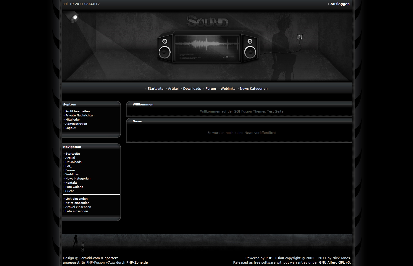 Screenshot PHP Zone Radio DJ Template