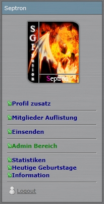Screenshot SGI User Panel 2K11 v7.01.xx
